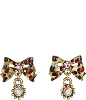 Betsey Johnson - Leopard Bow Stud Earrings