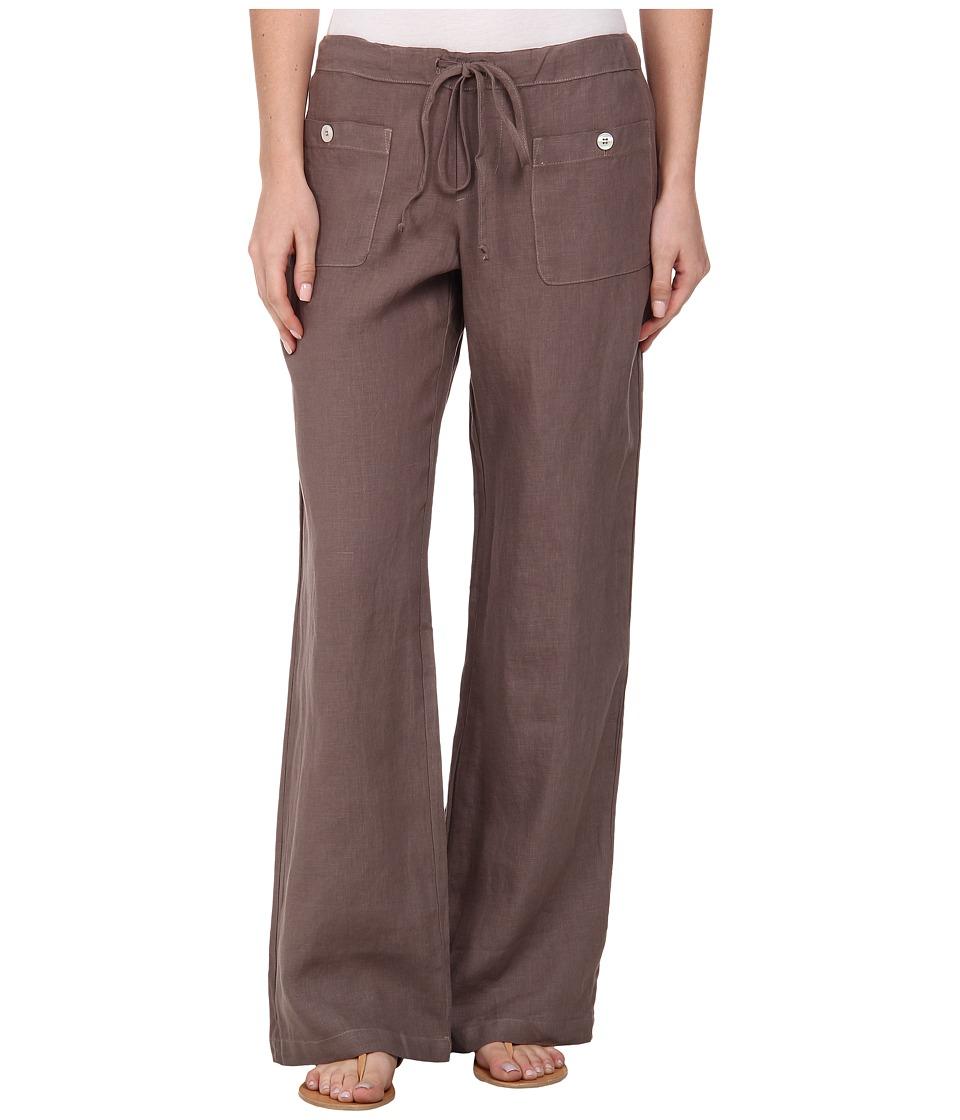 Allen Allen - Linen Long Pant LL9497 (Mushroom) Womens Casual Pants