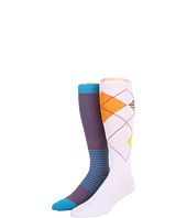 Cole Haan - Spring Bold Argyle/Scale Stripe Knee High 2 Pack