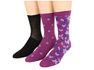 Cole Haan - Diamond Weave/Polka Dot/Tissue Knit Trouser 3 Pack (Aster Purple) - Footwear