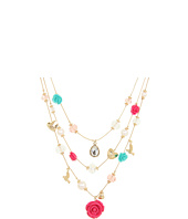 Betsey Johnson - Resin Flower Bead Illusion Necklace