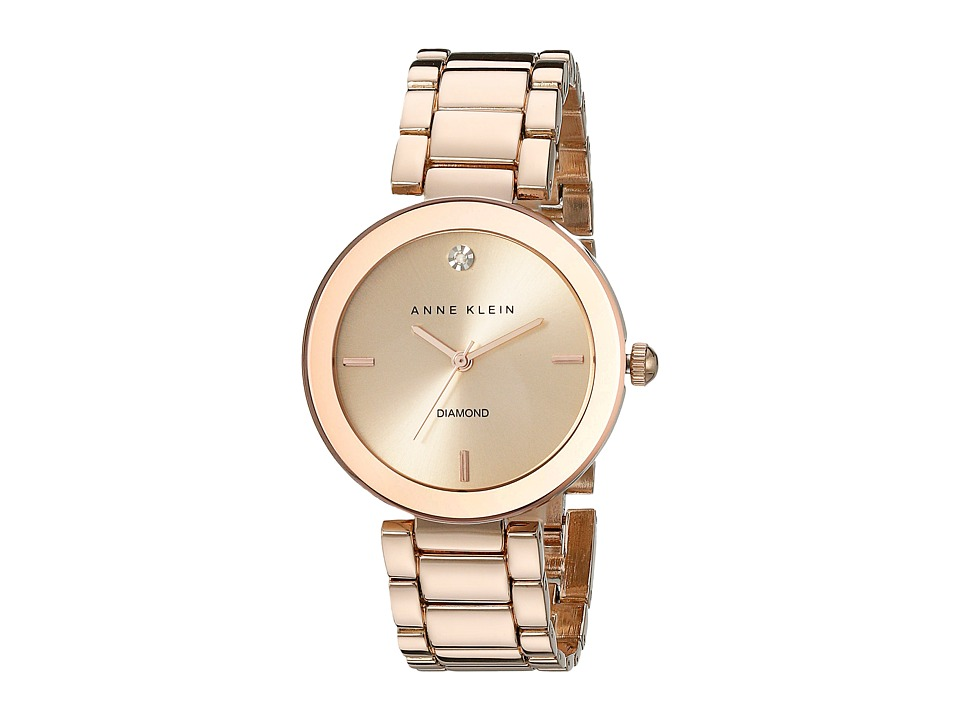 Anne Klein - AK-1362RGRG Diamond Dial Watch (Rose Gold/Rose Gold) Watches