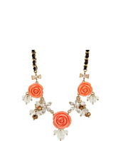Betsey Johnson - Resin Flower 3-Flower Frontal Necklace