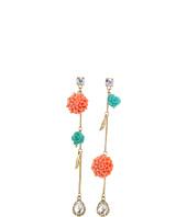 Betsey Johnson - Resin Flower Non-Matching Earrings