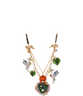 Betsey Johnson - Walk in the Park Heart Bird Frontal Necklace