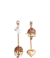 Betsey Johnson - Walk in the Park Umbrella Cat Non-Matching Earrings
