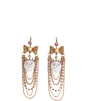 Betsey Johnson - Lace Skull Chain Swag Earrings