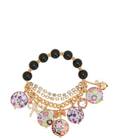 Betsey Johnson - Mother of Pearl Flower Half Stretch Bracelet