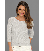 Autumn Cashmere - Marled Stitch Crop Sweater
