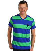 U.S. Polo Assn - S/S Wide Striped V-Neck