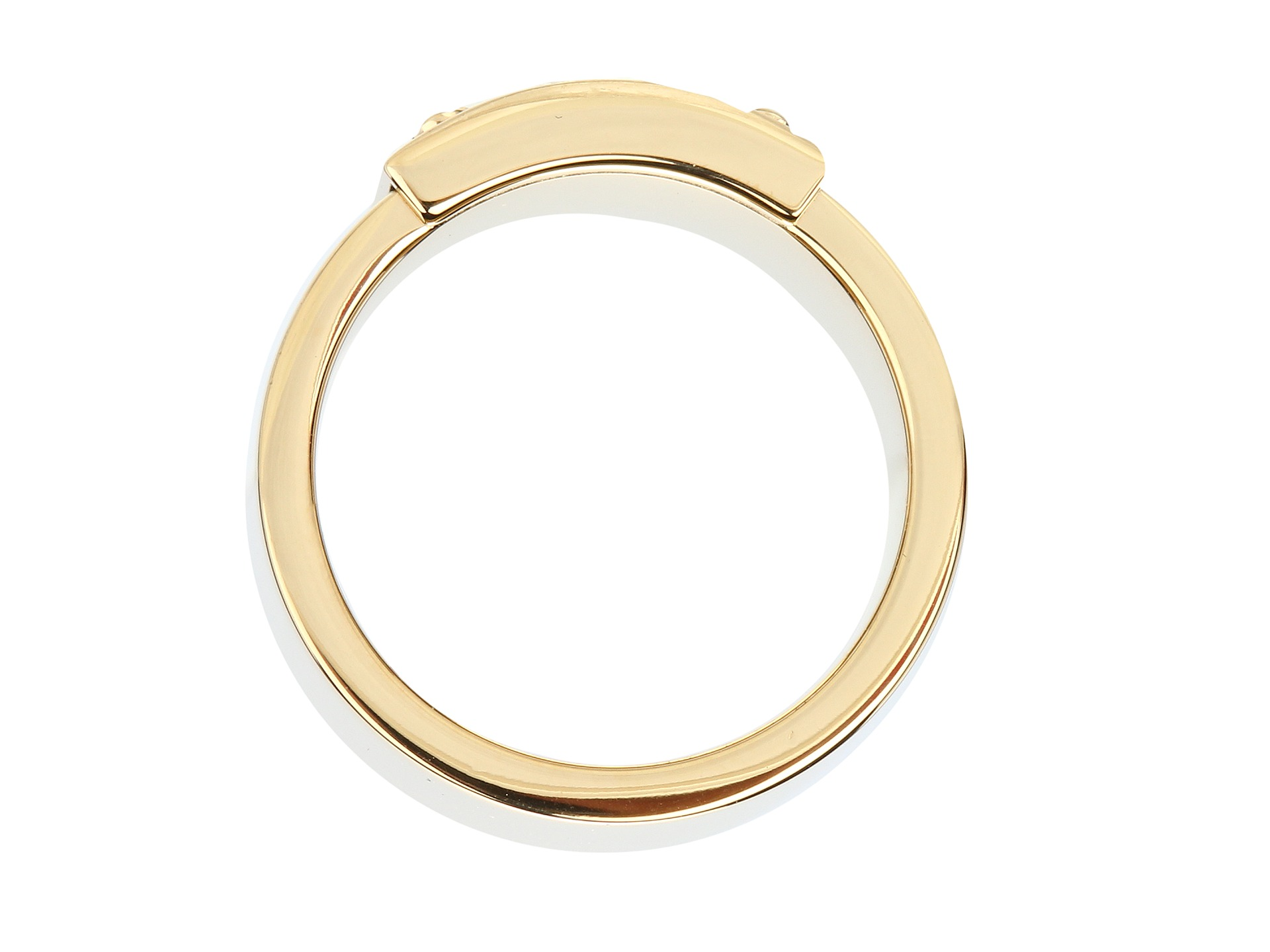 michael kors collection logo plate ring shipped free at zappos. Black Bedroom Furniture Sets. Home Design Ideas