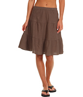 Allen Allen - Tiered Knee-Length Long Skirt