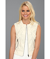 Catherine Malandrino - Perforated Leather Vest w/ Studs