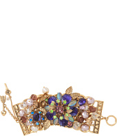 Betsey Johnson - Carved Rose Flower Wide Toggle Bracelet
