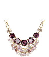 Betsey Johnson - Carved Rose Gem Shacky Frontal Necklace