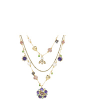 Betsey Johnson - Carved Rose Flower Illusion Necklace