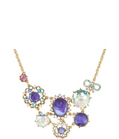 Betsey Johnson - Carved Rose Gem Frontal Necklace