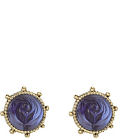 Betsey Johnson - Carved Rose Etched Rose Stud Earrings