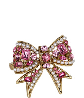 Betsey Johnson - Heart and Bow 2-Finger Ring
