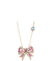 Betsey Johnson - Heart and Bow Frontal Necklace