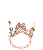Betsey Johnson - Heart and Bow Butterfly Half Stretch Bracelet