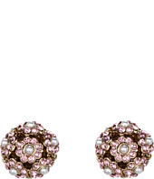 Betsey Johnson - Heart and Bow Flower Orbital Stud Earrings