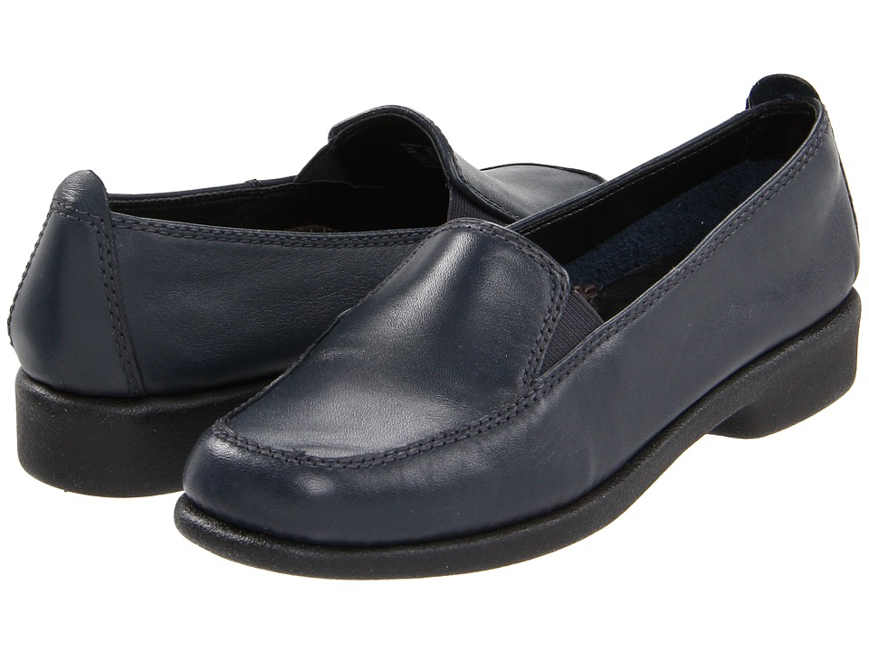 Hush Puppies Heaven Navy Leather Womens Flat Shoes
