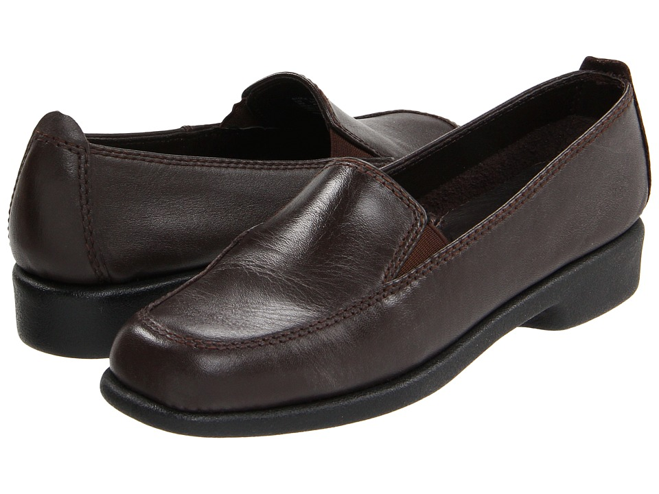 Hush Puppies Heaven Dark Brown Leather Womens Flat Shoes