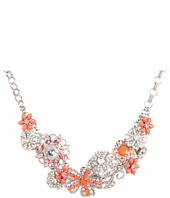 Betsey Johnson - Coral Glam Coral Flower Frontal Necklace
