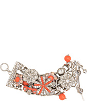 Betsey Johnson - Coral Glam Coral Flower Wide Toggle Bracelet