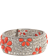 Betsey Johnson - Coral Glam Coral Crystal Hinged Bracelet