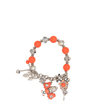 Betsey Johnson - Coral Glam Bee Half Stretch Bracelet