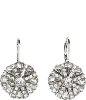 Betsey Johnson - Coral Glam Crystal Gem Drop Earrings