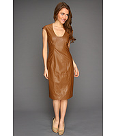 Anne Klein - Faux Leather Dress