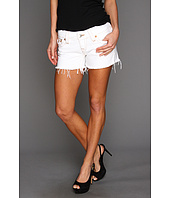 True Religion - Keira Cut-Off Short in Optic White