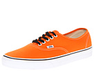 Vans - Authentic (Persimmon Orange/True White) - Footwear