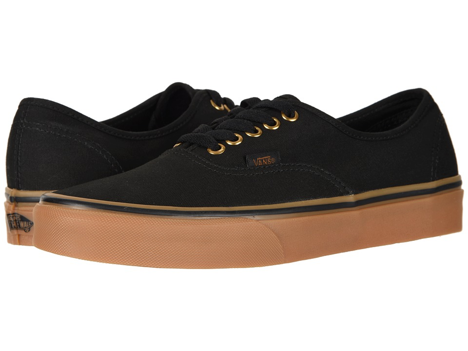 Vans Authentic Core Classics (Black/Rubber) Skate Shoes