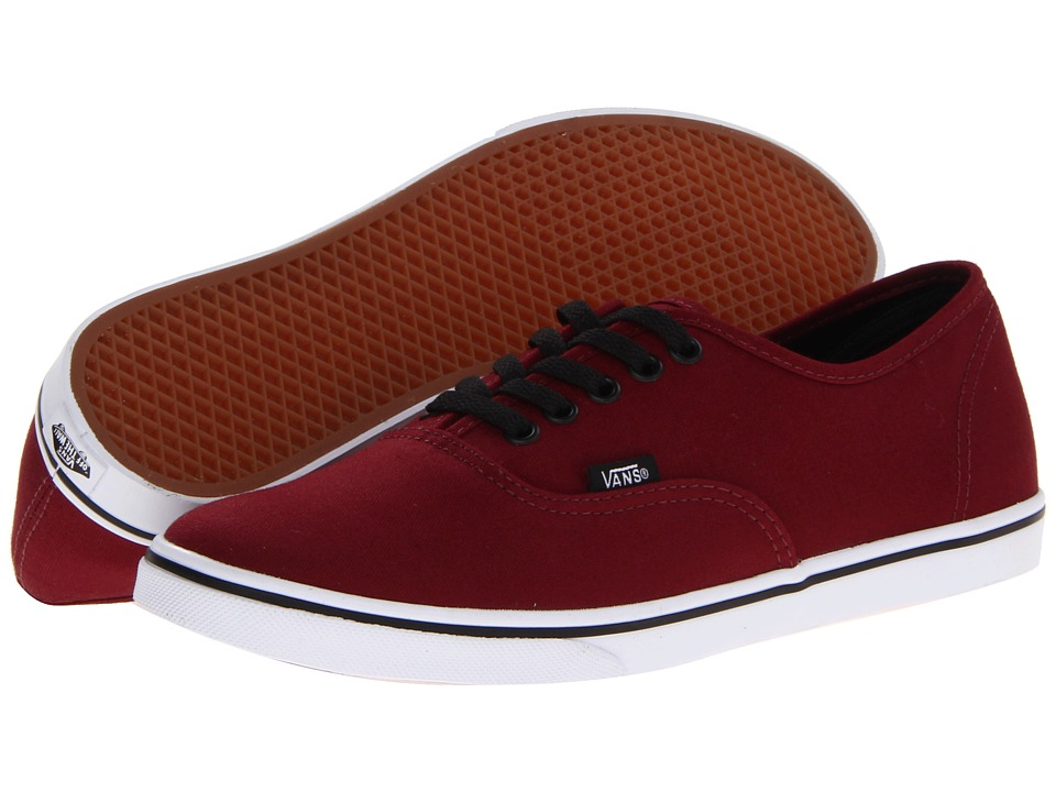 Vans Authentic Lo Pro (Tawny Port/True White) Skate Shoes