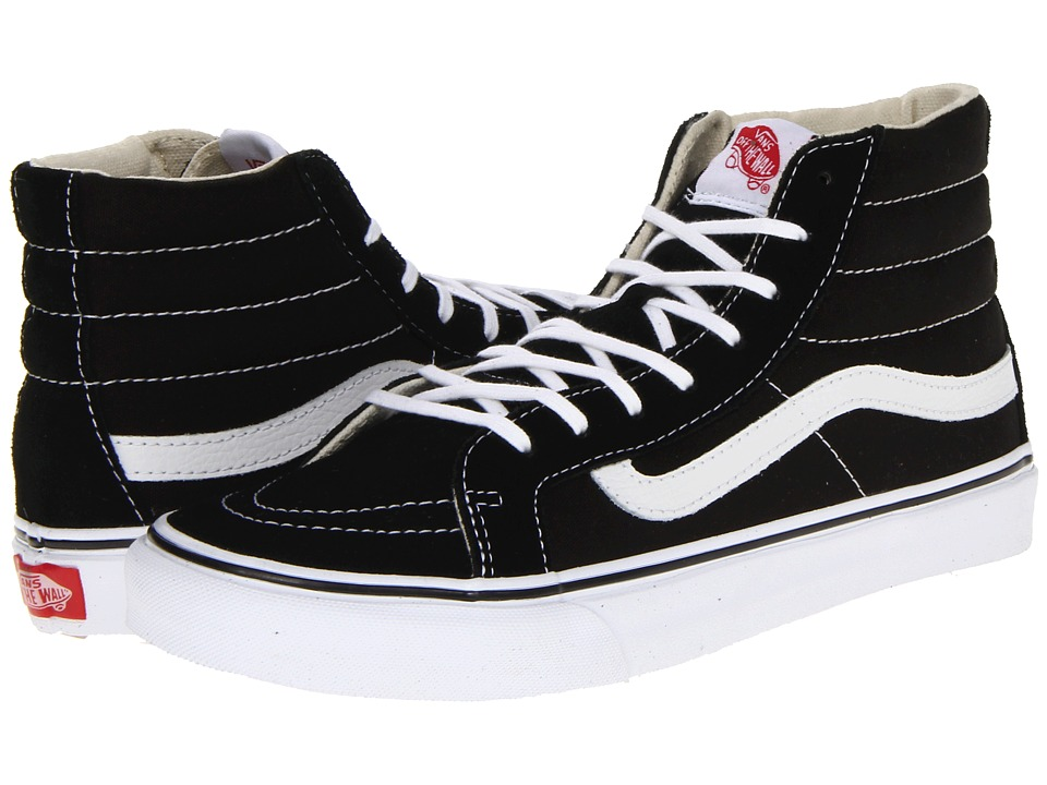 Sk8-Hi Slim Core Classics (Black/White) Skate Shoes
