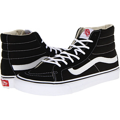 SK8-Hi Slim (Black/White) Skate Shoes