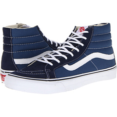 SK8-Hi Slim (Navy/White) Skate Shoes