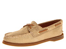 Sperry Top-Sider - A/O 2 Eye (Gold Sparkle Suede) - Footwear