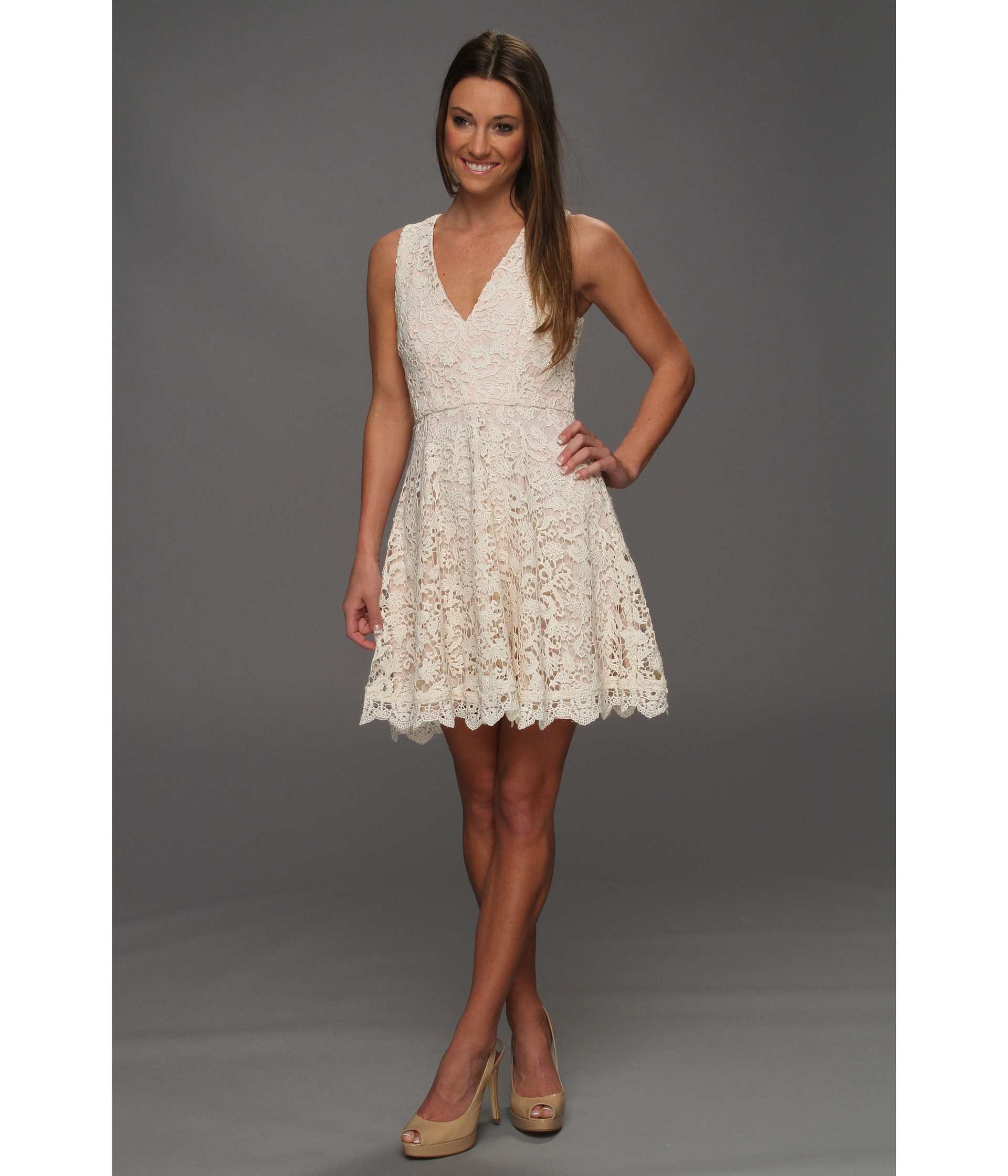 Buy Cheap French Connection Loving Crochet Dress Daisy White Lace