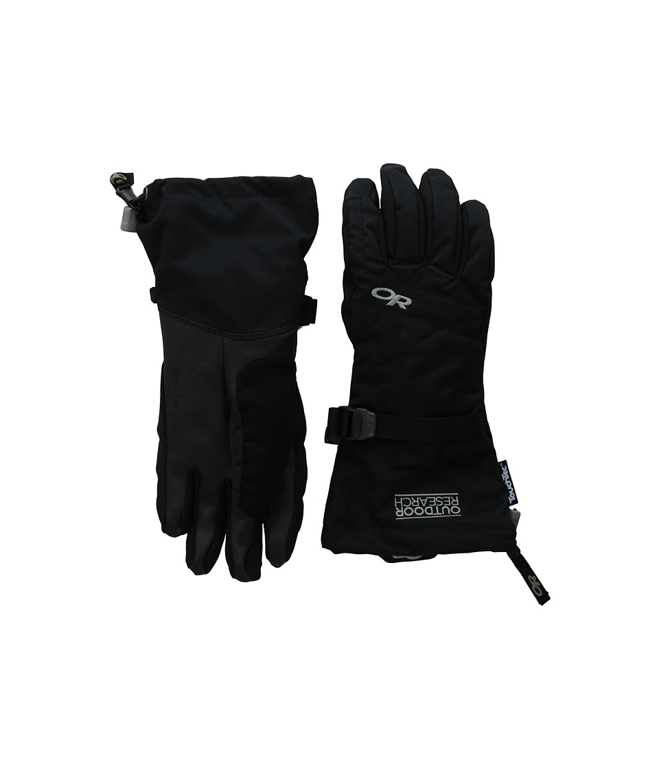 Outdoor Research Ambit Gloves (Black/Charcoal) Extreme Cold Weather Gloves