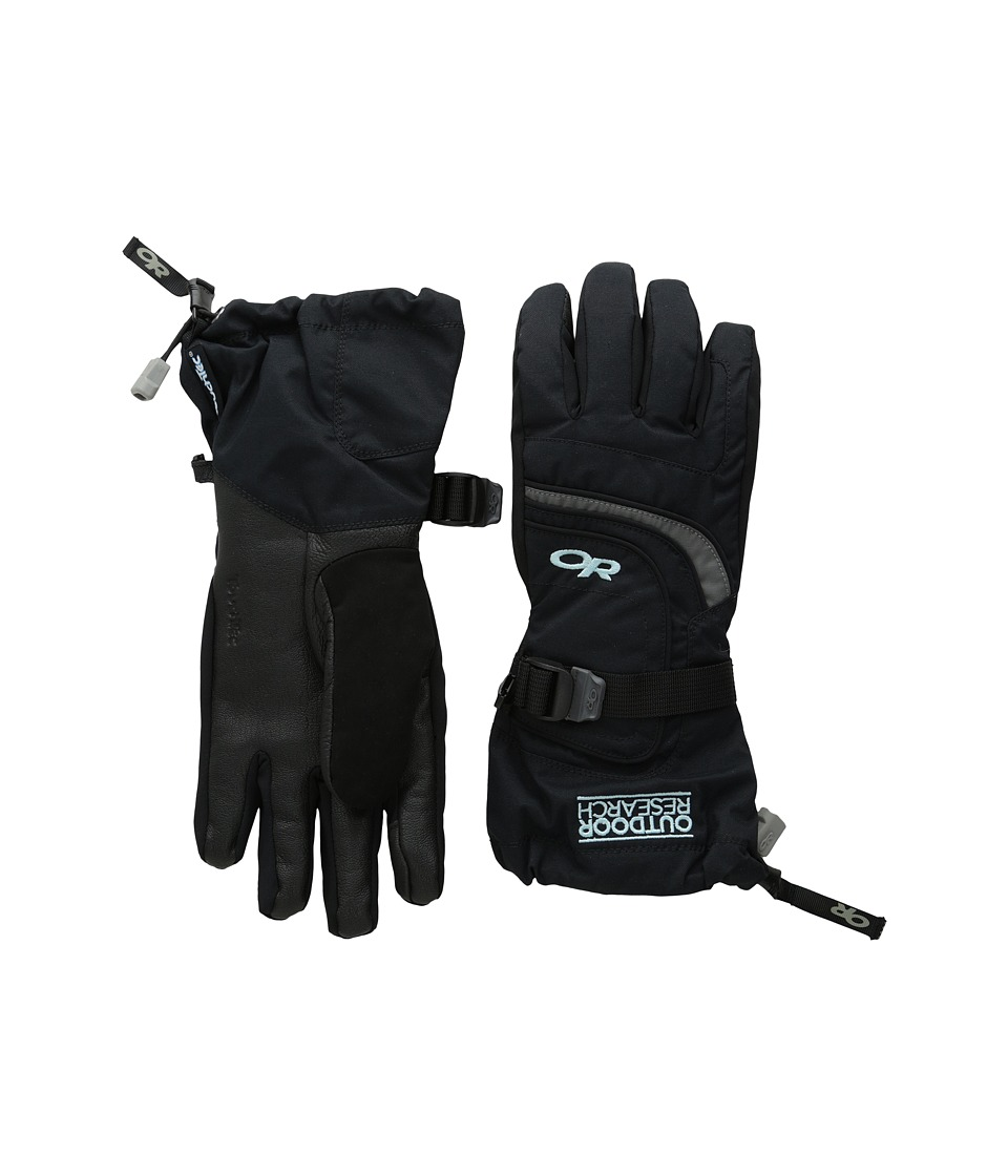 Outdoor Research Ambit Gloves Black/Charcoal/Pool Extreme Cold Weather Gloves