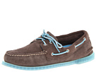 Sperry Top-Sider - A/O 2-Eye Ice Suede (Grey/Sky Blue) - Footwear