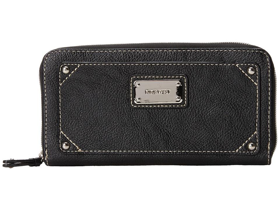 Nine West - Table Treasures Zip Around (Black) Clutch Handbags
