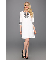 Donna Morgan - Helena - 3/4 Sleeve Sheath With Schiffli Embroidery Detail