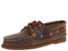 Sperry Top-Sider - A/O 3-Eye Padded Collar (Olive Plaid Oil Cloth) - Footwear