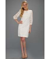 Eliza J - Three-Quarter Length Sleeve Eyelet Dress